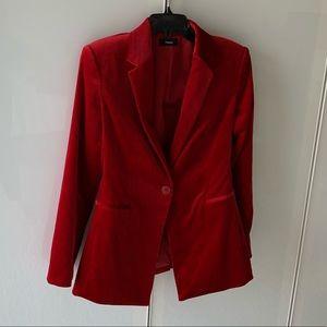 Gorgeous Theory red velvet blazer